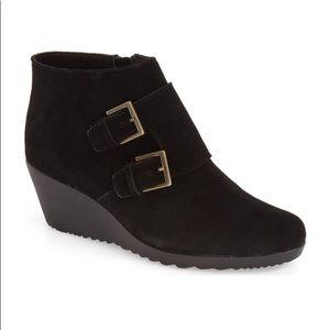 c7032bdb391 Munro Shoes - Munro Drew black Suede water resistant booties